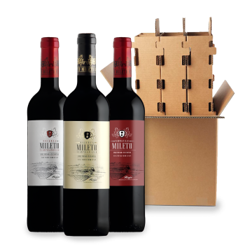 ComprarMileto Classic Red Wines 3 bottle box