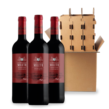 ComprarMileto Classic Red Young 3 bottle box